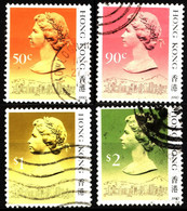 Hong Kong 1990 Mi 509IV_517IV Queen Elizabeth II - Used Stamps