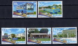 Barbados  2016. Independence Anniversary. Transportation,  Education, Sports,  Tourism, Manufacturing. MNH** - Barbados (1966-...)