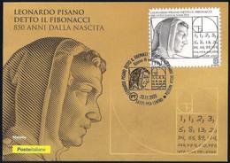 "Italia Italy [2020] Leonardo Pisano ""Fibonacci"" - Italian Mathematician; Philatelic Postcard - Other"