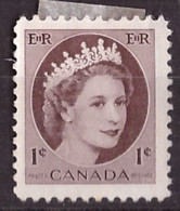 PIA - CANADA :1954 - Regina Elisabetta II° - (Yv  267 ) - Used Stamps