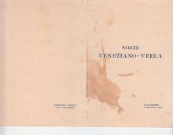 Partecipazione Nozze Veneziano-Vella-Palermo 8 Giugno 1931-Viaggiata Italy Italia - Unclassified