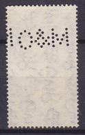 Great Britain Perfin Perforé Lochung 'O&M' 1937 Mi. 197, 1½p. Coronation George VI. ERROR Variety !! (2 Scans) - Perfins