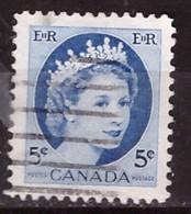 PIA - CANADA :1954 - Regina Elisabetta II° - (Yv  271 ) - Used Stamps