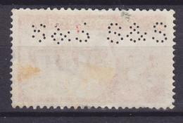 Great Britain Perfin Perforé Lochung 'S&S' 1959 Mi. 336, 5 Sh Queen Elizabeth (2 Scans) - Perfins