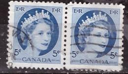 PIA - CANADA :1954 - Regina Elisabetta II° - (Yv  271 X 2 ) - Used Stamps