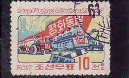 North Korea 1961, Michel 306, Wiedervereinigung Von Nord Und Sudkorea, Used - Corée Du Nord