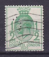 Great Britain Perfin Perforé Lochung Big 'C' 1929 Mi. 170, ½p. UPU Weltpostkongress, London George VI. (2 Scans) - Perfins