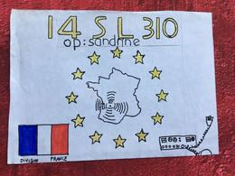RADIO AMATEUR CONTACT/STATION-☛I4 SL 310 LALINDE France Opérateur TSF Confir-Certificat QSL Fréquence-signal-Antenne - Other
