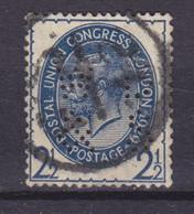 Great Britain Perfin Perforé Lochung 'WD&S' 1929 Mi. 173, 2½p. UPU Weltpostkongress, London George VI. (2 Scans) - Perfins