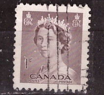 PIA - CANADA :1953 - Regina Elisabetta II° - (Yv  260) - Used Stamps