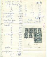 GENERI ALIMENTARI - SPESA MENSILE -MAGGIO 1984 -  NOTA  CON MARCHE DA BOLLO E FRANCOBOLLI,QUIETANZA - Invoices