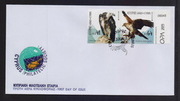 CYPRUS 2019 EUROPA CEPT SET STAMPS FROM BOOKLET ON UNOFFICIAL FDC - Cartas