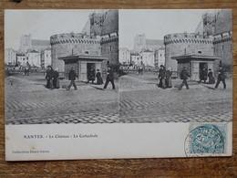 CPA (44) Loire Atlantique - NANTES - La Château - La Cathédrale - Carte Stéréoscopique - Nantes