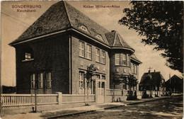 CPA AK SONDERBURG Reichbank Kaiser-Wilhelm Allee DENMARK (565478) - Danemark