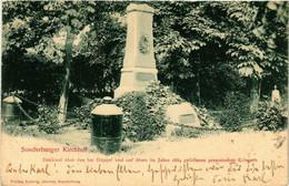 CPA AK SONDERBURG Kirchhof Denkmal DENMARK (565536) - Danemark