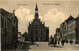 CPA AK SONDERBURG Perlstrasse Mit Rathaus DENMARK (565539) - Danemark