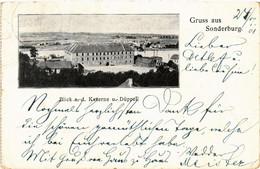CPA AK Gruss Aus SONDERBURG Blick A.d. Kaserne U. Düppel DENMARK (565572) - Danemark