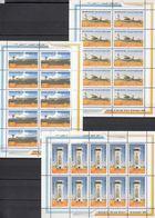 1999 Palestinian Gaza New Airport  Complete Sheets 3 Values MNH - Palästina