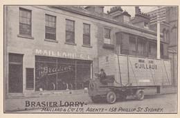 CPA .  NOUVELLE GALLE DU SUD   ( SYDNEY ) BRASIER LORRY. MAILLARD & Coy Ltd 158 PHILLIP ST. SYDNEY - Andere