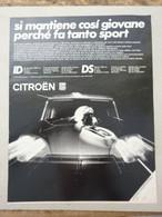 # ADVERTISING PUBBLICITA' CITROEN DS ID 19 LUSSO  - 1969 - Publicités