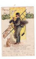 BERUFE - SCHORNSTEINFEGER / Chimney Sweeper / Ramoneur, Mit Schweinen Und Kleeblättern, 1901 - Other