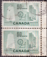 PIA - CANADA :1953 - Industria Tessile - (Yv  266 X 2) - Used Stamps