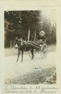 080521 - CARTE PHOTO 43 ST DIDIER EN VELAY Bois De Bramard - La Directrice Concuisant Cadichon Attelage Chien âne Mule - Altri Comuni