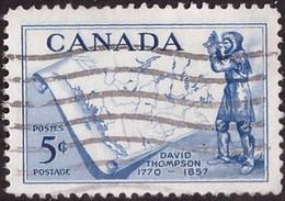 PIA - CANADA :1957 - 100° Della Morte Dell'esploratore David Thompson - (Yv  297) - Used Stamps