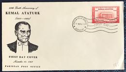 Turkey 1963 Mustafa Kemal Atatürk FDC - Covers & Documents