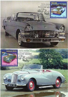 Russia 2013 Joint Monaco History Of Luxury Automobiles Set Of 2 Maxicards - Emissions Communes