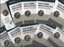 ANDORRA EUROS LOTE DE 10 MONEDAS DE 2,00€ MEMORATIVAS  CIMERA IBEROAMERICANA OFERTA. - Andorra