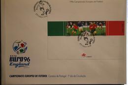 Portugal, Fußball-EM England 96, Block Auf FDC - UEFA European Championship