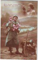 FANTAISIES . MILITARIA . PATRIOTIQUES . SOLDAT REVANT A SA FEMME . E. M. 156 - Patriotic