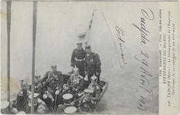 MAROC  EVENEMENT 1908 TANGER DEBARQUEMENT EMPEREUR GUILLAUME 2 ETAT MAJOR  ANIMATION A VOIR - Casablanca