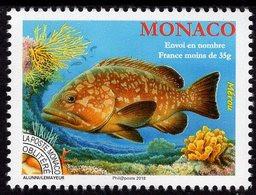 Monaco - 2018 - Fishes - Grouper - Mint Pre-cancelled Stamp - Precancels
