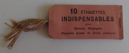Carnet De 10 étiquettes Indispensables Pour Envois Bagages, Paquets Et Colis Postaux Restent 9 TBE - Chemin De Fer