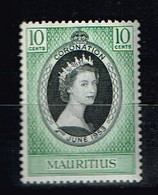 ILE MAURICE / MAURITIUS / NEUF*/MLH* / 1953 - Couronnement D'Elizabeth II - Mauritius (...-1967)
