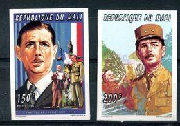 Thème Général De Gaulle - Mali - Yvert 754 755  - Neuf Xxx Non Dentelé - T 977 - De Gaulle (Generaal)