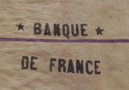 BANQUE DE FRANCE - Sac De Transport De Fonds En Toile De Jute Marqué Des Deux Côtés EXCELLENT ETAT - Supplies And Equipment