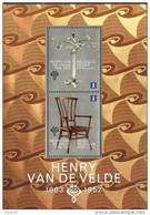 Belgium - 2013 - Ode To Design - Henry Van De Velde - Mint Souvenir Sheet - Nuovi