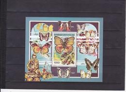 CENTRAFRICAINE  FAUNE ET SCOUTISME  PAPILLON  NEUF ** FEUILLET N° 104 YVERT ET TELLIER 1990 - Unused Stamps