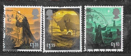 GB 2019 XMAS SA OFF PAPER TRIO HVs - Used Stamps