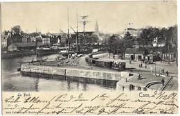 E5 Calvados 14 CAEN Le Port La Gare Du Tramway Précurseur 1902 TBE - Caen