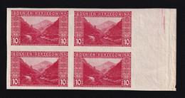 BOSNIA AND HERZEGOVINA - Landscape Stamp 10 Hellera, Imperforate Block Of Four, MNH - Bosnia Erzegovina