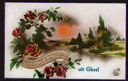 Gelukke Nieuwjaar Uit Gheel - Geel - Circulée - Voir Scans - Geel