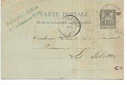 55-FRESNES EN WOEVRE -CP De Corresondance Des Ets TOUSSAINT LACAILLE Adressée à La Verrerie Des Islettes En 1893 (1) - Otros Municipios