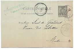 55-FRESNES EN WOEVRE -CP De Corresondance Des Ets TOUSSAINT LACAILLE Adressée à La Verrerie Des Islettes En 1893 (2) - Otros Municipios