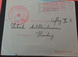 RED CROSS COVER LEIGE -HAMBURG 1920 - Red Cross