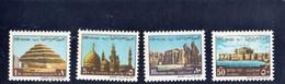 CG68 - 1970 Egitto U.A.R. - Saqqarah Piramide, Al Axhar Mosque, Tempio Di Luxor E Qaitbay Fort Di Alessandria - Neufs