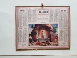 CALENDRIER   OBERTHUR  1941   LA  RESURECTGION    DEPT  41 - Big : 1941-60